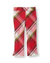 Plaid Silk Pant