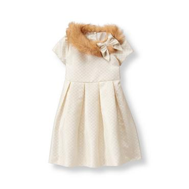 Ivory Shimmer Jacquard Dress at JanieandJack