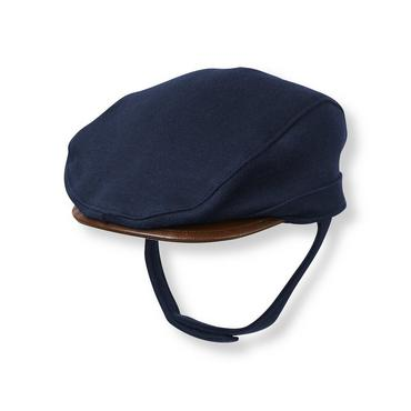 Baby Boy Navy Faux-Leather Brim Cap at JanieandJack