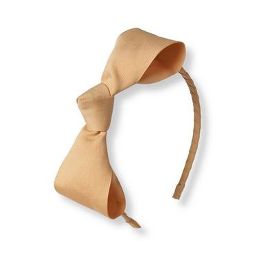 Baby Girl Light Highlands Tan Bow Headband at JanieandJack