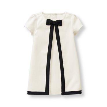 Ivory Tipped Ponte Dress at JanieandJack