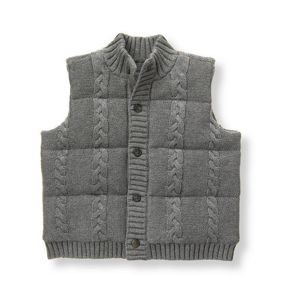 Cable Puffer Vest