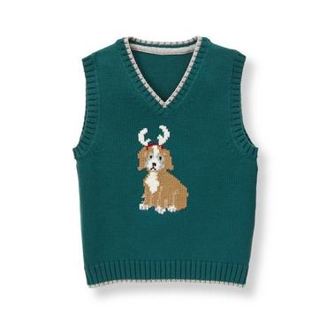 Baby Boy Spruce Dog Sweater Vest at JanieandJack