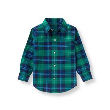 Spruce Plaid Plaid Twill Shirt at JanieandJack