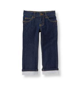 Jersey-Cuff Jean