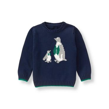 Navy Penguins Sweater at JanieandJack