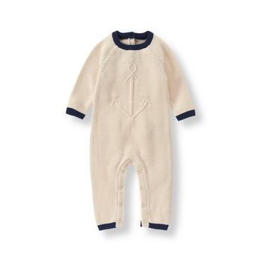 Baby Boy Ecru Anchor Sweater 1-Piece at JanieandJack
