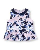 Floral Sateen Top