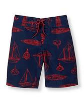 Boat Print Swim Trunk