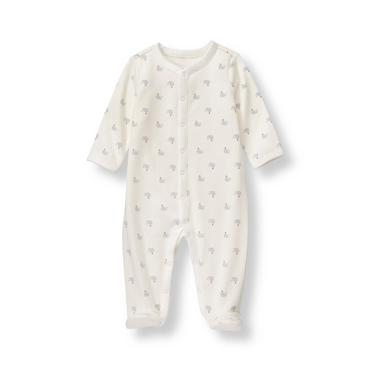 Layette Ivory Whale Footed 1-Piece at JanieandJack