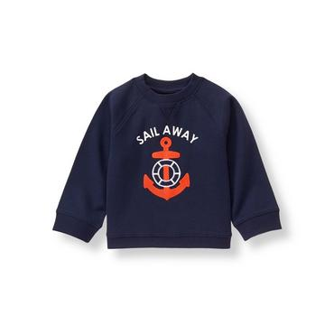 Baby Boy Navy Sail Away Pullover at JanieandJack