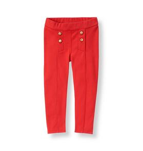 Double Button Ponte Pant