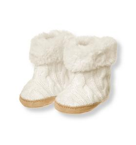 Cable Crib Bootie