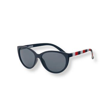 Baby Girl Navy Stripe Striped Sunglasses at JanieandJack