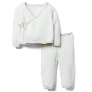 Layette Cloud White Newborn Sweater Gift Set at JanieandJack