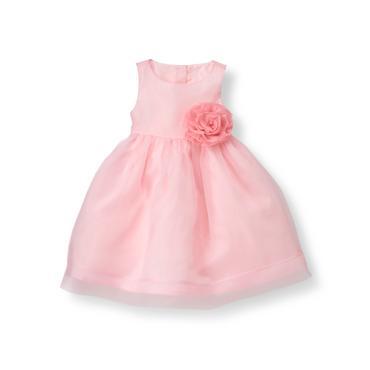 Baby Girl Tea Rose Rosette Organza Dress at JanieandJack