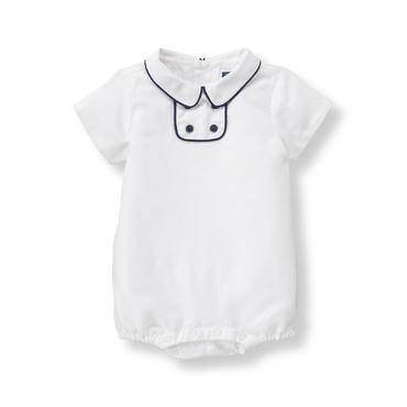 Baby Boy White Linen Blend 1-Piece at JanieandJack