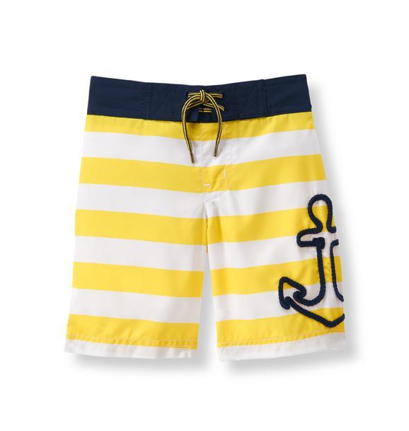 Anchor Stripe Swim Trunk