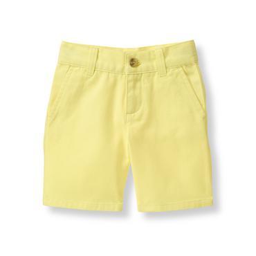 Baby Boy Coastal Yellow Twill Short at JanieandJack