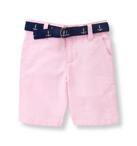 Belted Oxford Short