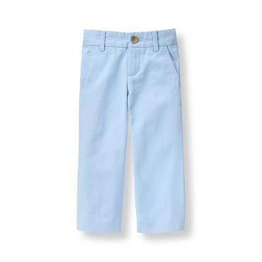 Baby Boy Soft Blue Twill Pant at JanieandJack