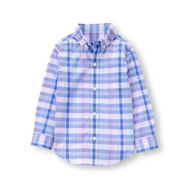 Baby Boy Pink Plaid Plaid Madras Shirt at JanieandJack