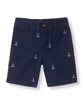 Embroidered Anchor Short