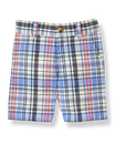 Plaid Linen Blend Short