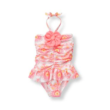 Baby Girl Glow Pink Paisley Paisley Swimsuit at JanieandJack
