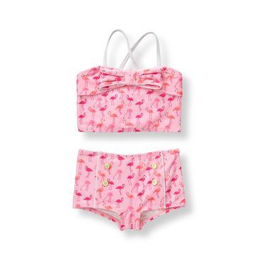 Light Flamingo Pink Flamingo 2-Piece Swimsuit at JanieandJack