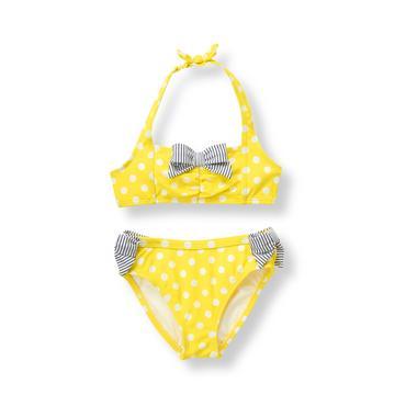 Baby Girl Bright Lemon Dot 2-Piece Swimsuit at JanieandJack