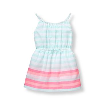 Baby Girl Aqua Stripe Striped Cover-Up at JanieandJack