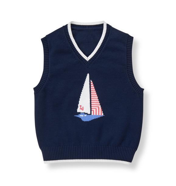 Sailboat Sweater Vest