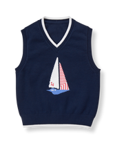 Sailboat Sweater Vest