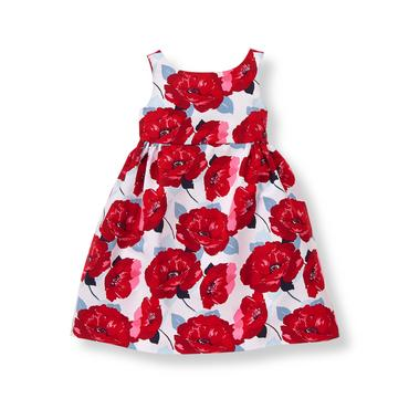 Baby Girl Poppy Red Print Poppy Dress at JanieandJack