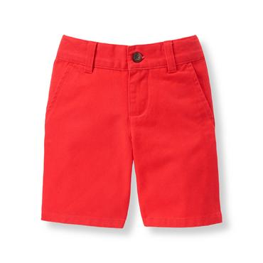 Boys Harbor Red Twill Short at JanieandJack
