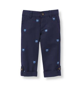 Roll-Cuff Crab Pant
