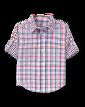Roll-Cuff Poplin Shirt