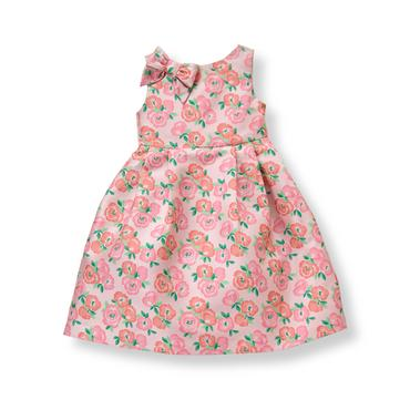 Baby Girl Blush Rose Floral Jacquard Dress at JanieandJack