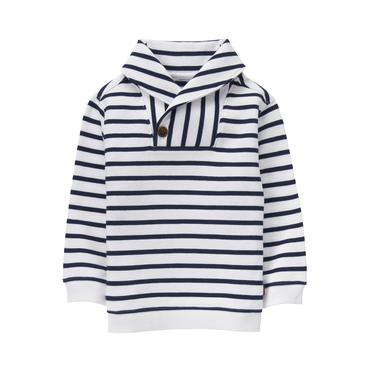 Navy Stripe Striped Pullover at JanieandJack