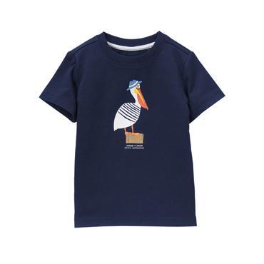 Baby Boy Navy Pelican Tee at JanieandJack