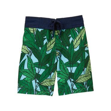 Baby Boy Palm Green Print Palm Swim Trunk at JanieandJack
