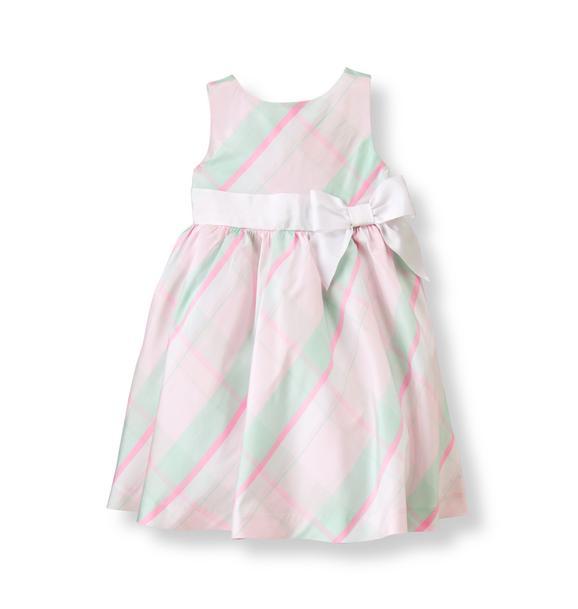 Plaid Silk Dress