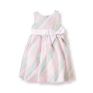Baby Girl Pastel Pink Plaid Plaid Silk Dress at JanieandJack