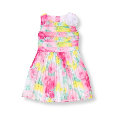 Baby Girl Peony Pink Floral Floral Chiffon Dress at JanieandJack