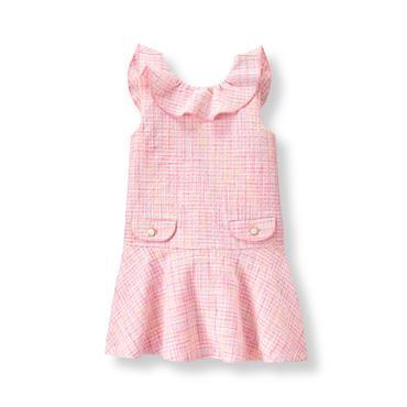 Baby Girl Light Peony Pink Bouclé Dress at JanieandJack