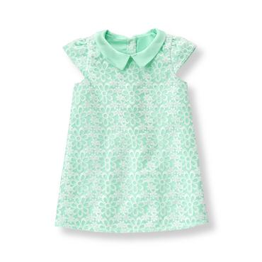 Baby Girl Fresh Mint Embroidered Organza Dress at JanieandJack