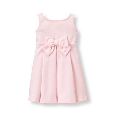 Baby Girl Pastel Pink Pleated Ponte Dress at JanieandJack
