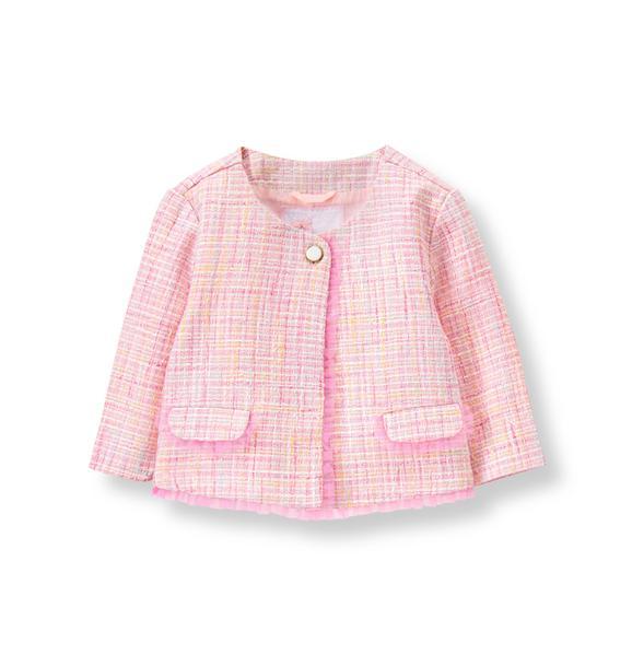 Girl Light Peony Pink Bouclé Jacket by Janie and Jack