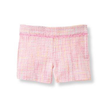 Baby Girl Light Peony Pink Bouclé Short at JanieandJack